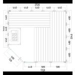 komfort corner large 206x232x204 cm grundriss