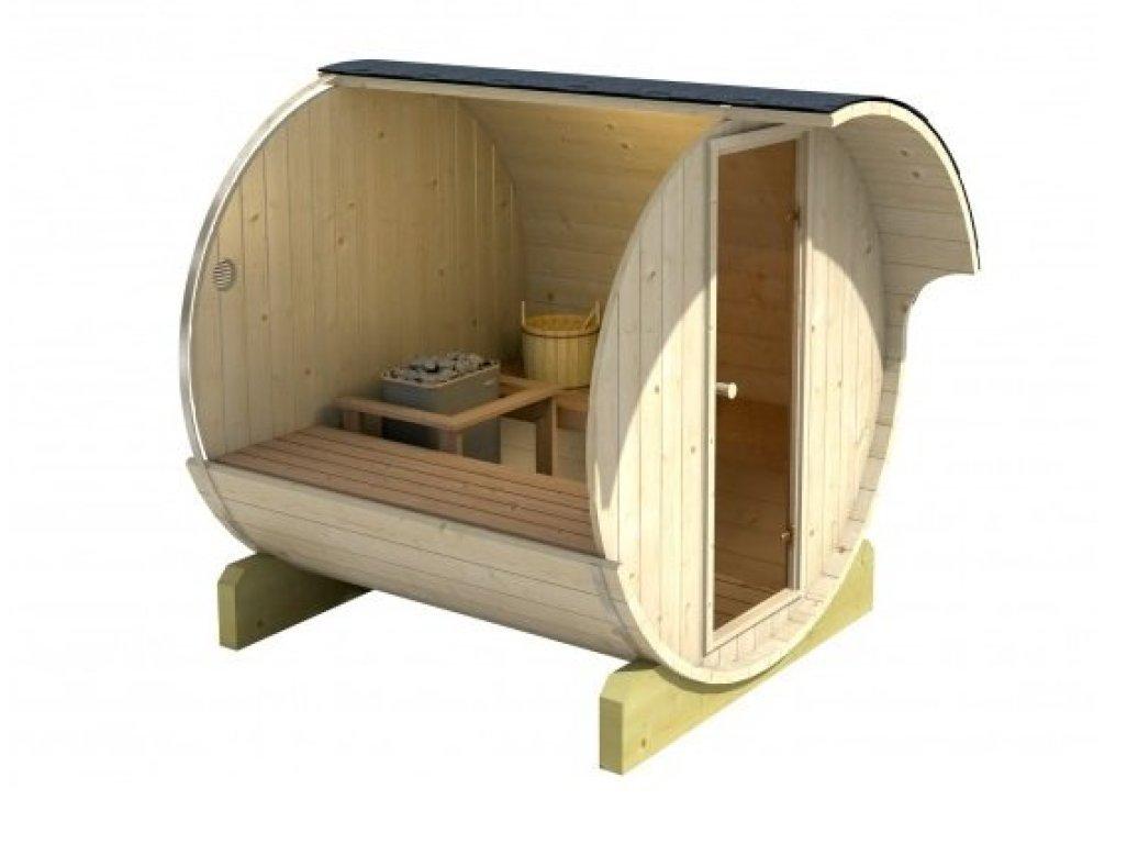 Venkovní sudova sauna 220